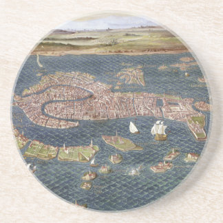 VENICE: MAP, 16TH CENTURY DRINK COASTER