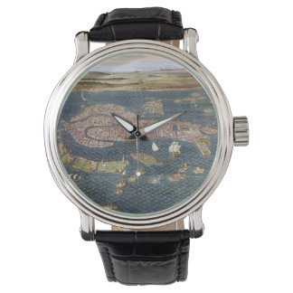VENICE: MAP, 16TH CENTURY WATCHES