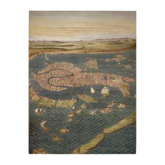 VENICE: MAP, 16TH CENTURY WOOD PRINTS