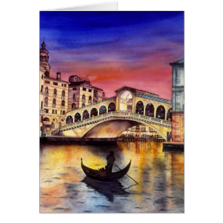 Venice Night Card
