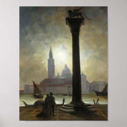 Venice Night Poster