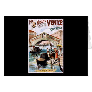 Venice of to-day at Olympia Card