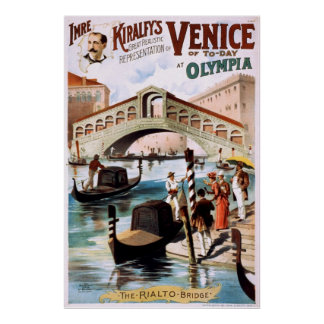 Venice of to-day at Olympia Poster
