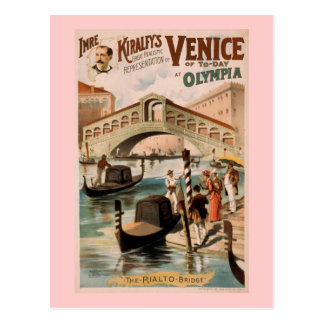 """Venice of Today"" Vintage Theatre Postcard"