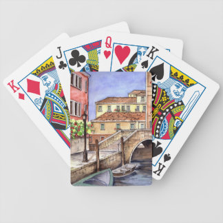 Venice - Pen & Wash Watercolor Bicycle Playing Cards
