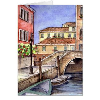 Venice - Pen & Wash Watercolor Card