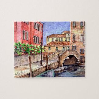 Venice - Pen & Wash Watercolor Jigsaw Puzzle