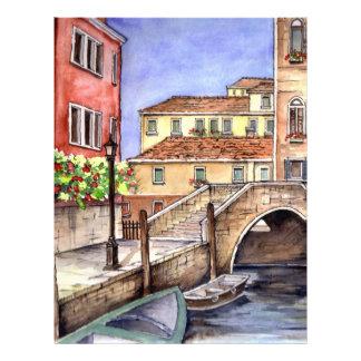 Venice - Pen & Wash Watercolor Letterhead