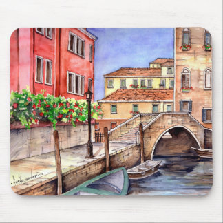 Venice - Pen & Wash Watercolor Mouse Pad