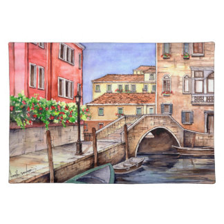 Venice - Pen & Wash Watercolor Placemat