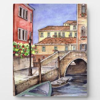 Venice - Pen & Wash Watercolor Plaque