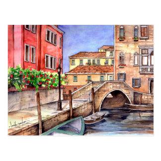 Venice - Pen & Wash Watercolor Postcard