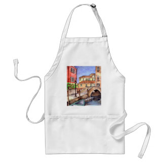 Venice - Pen & Wash Watercolor Standard Apron