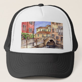 Venice - Pen & Wash Watercolor Trucker Hat