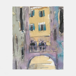 Venice Plein Air II Fleece Blanket