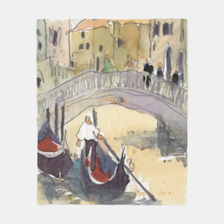Venice Plein Air III Fleece Blanket
