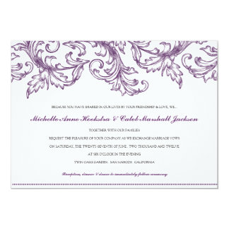 Venice (Purple) Wedding Invitation