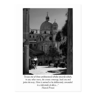 Venice Quote Card Postcard