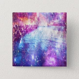 Venice Rainbow Universe 2 Inch Square Button