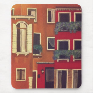 Venice red homes mouse pad