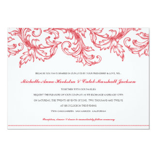 Venice (Ruby Red) Wedding Invitation
