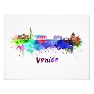 Venice skyline in watercolor photo print