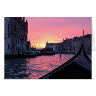 Venice Sunset Card