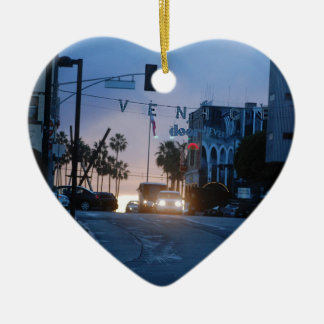 venice sunset ceramic ornament