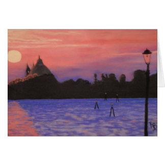 Venice Sunset notecard