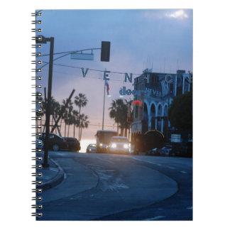 venice sunset spiral notebook