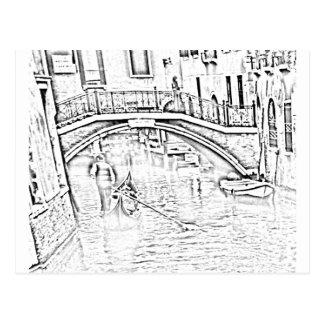 Venice-Taxi Postcard