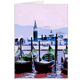 Venice Travel Poster, add text Card