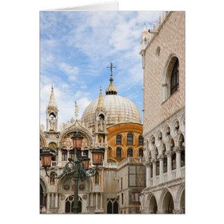 Venice, Veneto, Italy - Birds are perched on a Card