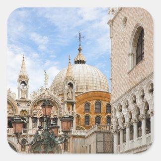 Venice, Veneto, Italy - Birds are perched on a Square Sticker
