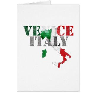Venice Venezia Italy. Watercolor Art, Distressed Card