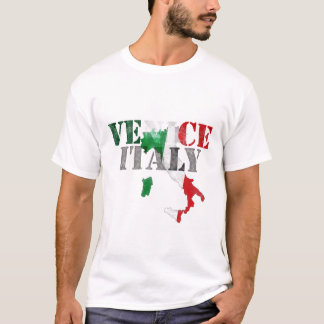 Venice Venezia Italy. Watercolor Art, Distressed T-Shirt