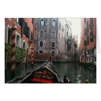 Venice Via Gondola Card