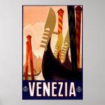 """Venice"" Vintage Italian Travel Poster"