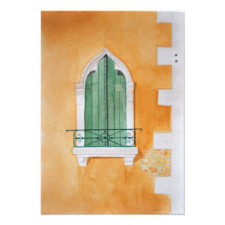 Venice window - taken from an original watercolor art photo