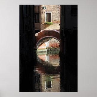 Venice Window View To A Bridge.... Poster