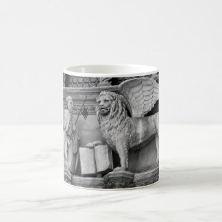 VENICE WINGED LION B/W COFFEE MUG