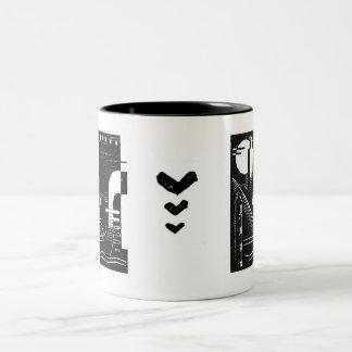 Venice Woodcut Cup Two-Tone Coffee Mug