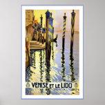 """""""Venise et affiche vintage de voyage de le Lido"""""""