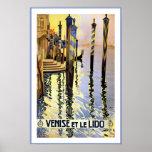 Venise Italie/Venise et Le Lido Travel Poster