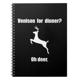 Venison Deer Pun Notebook
