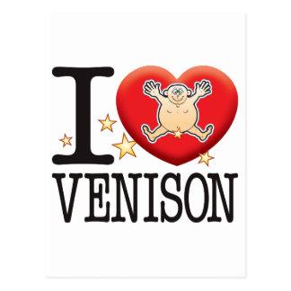 Venison Love Man Postcard