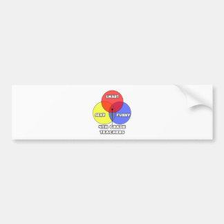 Venn Diagram .. 4th Grade Teacher Bumper Sticker