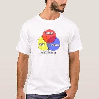 Venn Diagram .. Actuaries T-Shirt