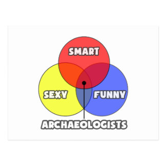 Venn Diagram .. Archaeologists Postcard