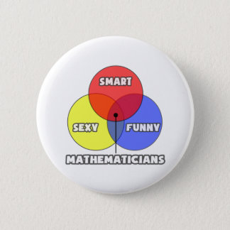 Venn Diagram .. Mathematicians 2 Inch Round Button